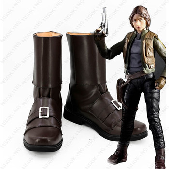 Anime Ayakkabı Star Wars Rogue Tek Jyn Erso Cosplay Çizmeler