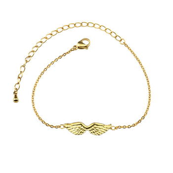 10pcs/lot Angel Wings Bracelet For Women Charm Choker Chain Stainless Steel Butterfly Bracelet Erkek Bileklik Birthday Gifts