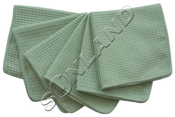 "Sinland 6-pack 13""x13"" Microfiber Waffle Weave Dish Cloths Washcloths Facial Cloths Household Cleaning Cloth"