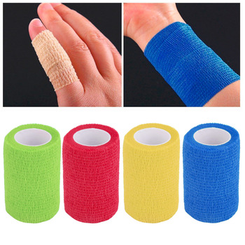 Hot 4.5m x 7.5cm Self-Adhering Bandage Wraps Elastic Adhesive First Aid Tape Waterproof and breathable new new