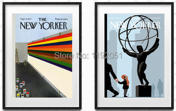 Modern decorative paintings posters mural prints the new yorker color world and science 2 panels